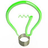 Isolated light bulb, 3D — Stock Photo