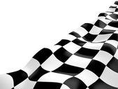 Bandeira quadriculada, 3d — Fotografia Stock