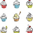 Sweet cakes — Vector de stock #30381795