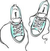 Sneakers . — Stock Vector