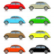 Set of colorful compact cars — Stockvektor #36925891