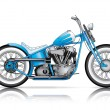 Stock Vector: Blue custom bobber