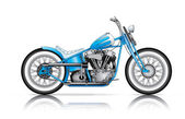 Blue custom bobber — Stock Vector