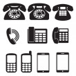 Stock Vector: Phone Icons