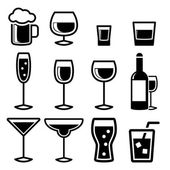 Drink Icons — Stock Vector