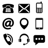 Contact us icons — Stock Vector