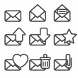 Stock Vector: Envelopes Icons