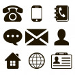 Stock Vector: Contact Icons Set
