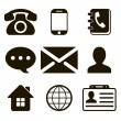 Contact Icons Set — Stock Vector #31121441