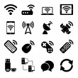Wireless Devices Icons Set — Stock Vector