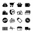 Market Icons Set — Stock Vector