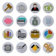 Business Modern Icons Set — Stock Vector