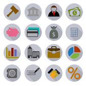 Business Modern Icons Set — Vector de stock