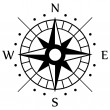 Black Compass Symbol — Stockvectorbeeld