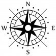 Stockvector : Black Compass Symbol