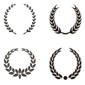 Laurel Wreaths — Stock Vector