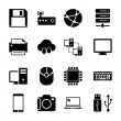 Technology Icons Set — Imagen vectorial