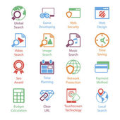 Color Internet Marketing Icons Vol 3 — Stock Vector