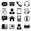 Contact Us Icons Set — Vettoriali Stock