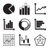 Diagram Icons Set — Stock Vector