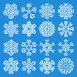 White Snowflakes Icons — Stock Vector