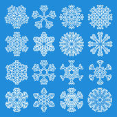 White Snowflakes Icons — Vecteur