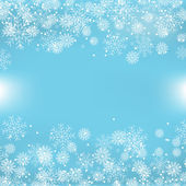 Blue Christmas Background With Snowflakes — Stock Vector