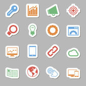 Seo Icons as Labes — Stock Vector