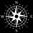White Compass Symbol — Stockvektor