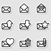 Envelopes Icons as Labels — Stok Vektör