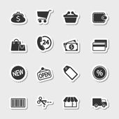 Market Icons Set as Labels — Stock Vector