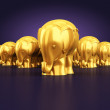 Gold statue of an elephants — Stock Photo #30171197