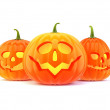 Three halloween pumpkin — Stock Photo #31182555