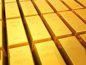 Gold bullion bars — Stock Photo