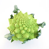 Romanescu (Brassica Oleracea). Roman cauliflower. Romanesco broccoli cabbage isolated on white background. — Stock Photo