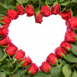 Heart made of red roses — Stock Photo