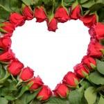 coração de rosas vermelhas — Foto Stock