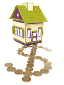 House with dollar path — Stock Photo
