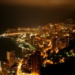 Cityscape of the principality of Monaco by Night. — Stock Photo