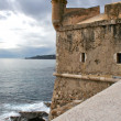 Harbour Fort in Menton, France. It is located near the entrance to the marina. — Stock Photo
