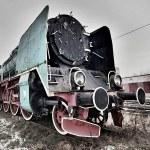 Steam locomotive in rail yard — Stock Photo #31770535