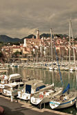 Menton Marina and the Old Town — Stock Photo