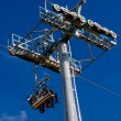 Aerial tram, cable car in park — Stock Photo