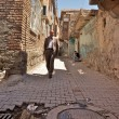 Back alleys of Diyarbakir old town. Located partly behind medieval walls this district suffers from underinvestment. Turkey — Stock Photo