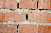 Wall of an old whitewashed brick — Stock Photo