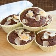 Mini sized chocolate muffins. — Stock Photo