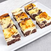 Cheesecake brownie — Foto de Stock