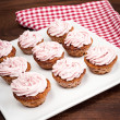 Pink raspberry cupcakes — Stock Photo