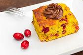 Pumpkin and cranberry cake — Stock Photo