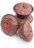 Chocolate muffins with cranberry — Stock Photo